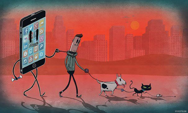 Steve Cutts  _  Satirical Illustrations Addiction to Technology19
