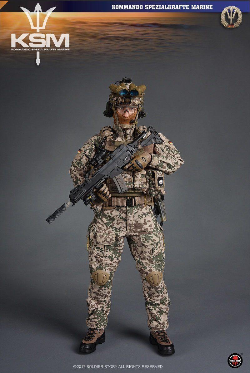 Kommando Spezialkrafte Marine 1//6 Scale Soldier Story Figures Balaclava Mask