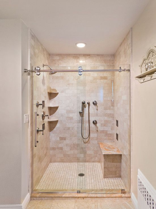 Frameless Shower Door Slider Contemporary Bathroom New York By Addition Mbr Bath