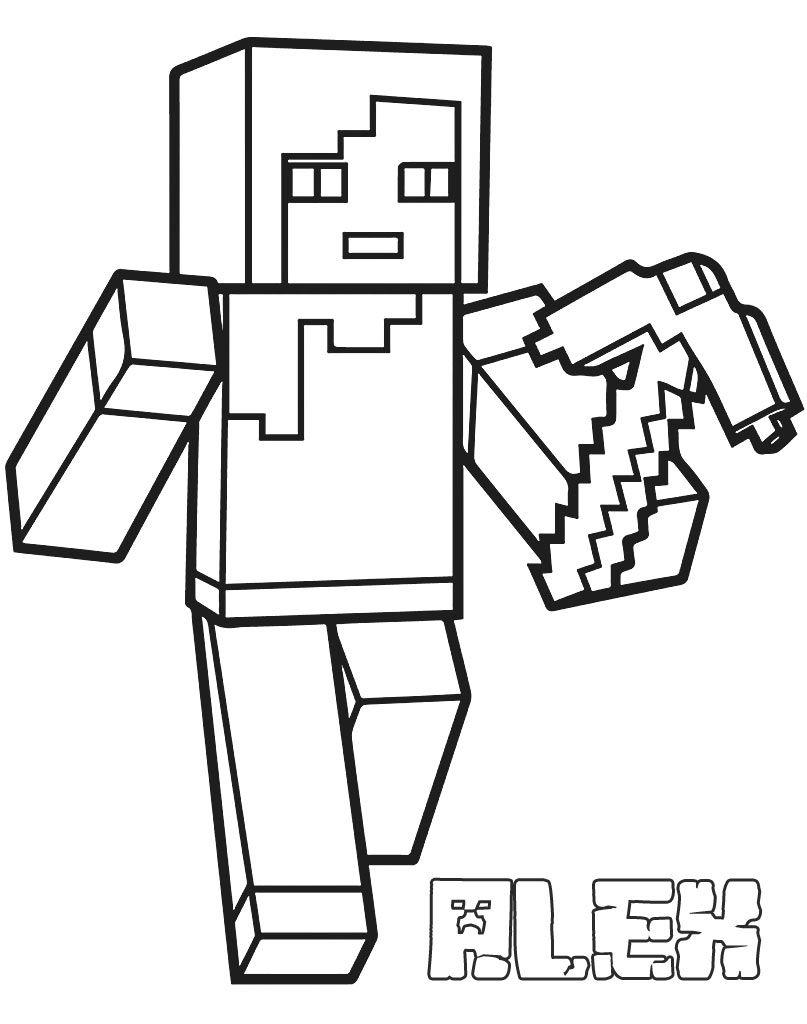 Alex Kolorowanka Minecraft In 2020 Minecraft Printables Minecraft Coloring Pages Coloring Pages
