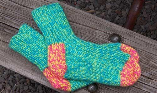 Bear Toes Free Knitting Patterns Tropical Punch Slipper Socks