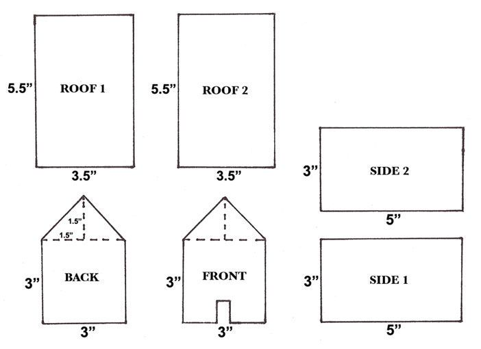 How to Create Gingerbread Houses #gingerbreadhousetemplate