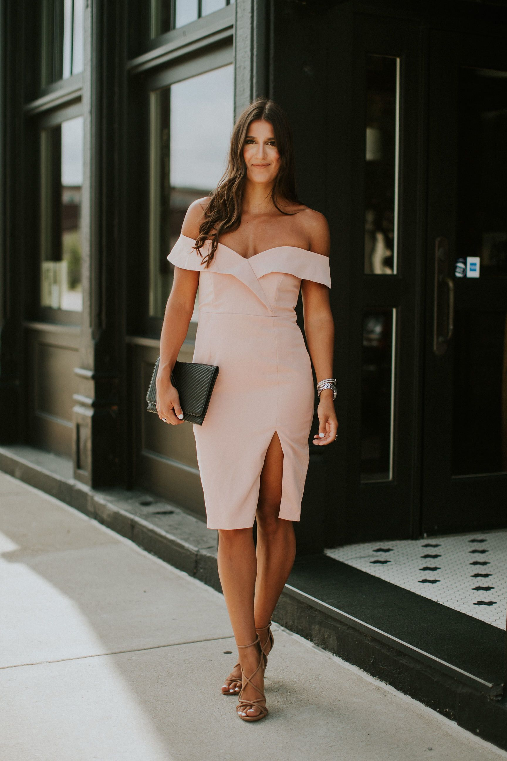 blush cocktail dress, wedding guest dresses, wedding cocktail attire, pink cocktail dresses, summer cocktail dresses, summer weddings // grace wainwright a southern drawl