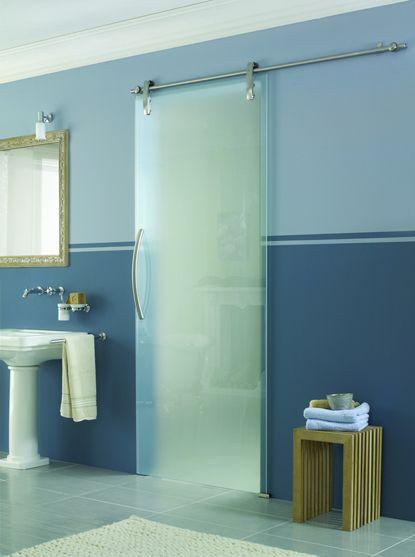 Glass Door Blue Walls Water Element Is Perfectly