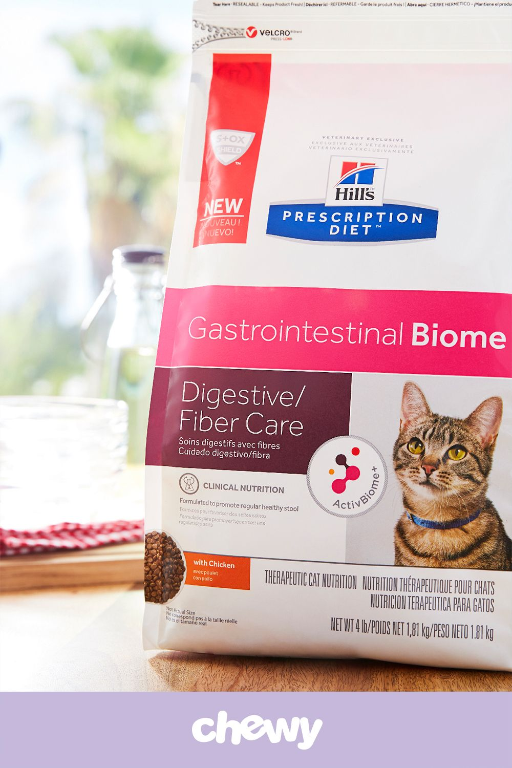 Hill S Prescription Diet Gastrointestinal Biome Digestive Fiber Care With Chicken Dry Cat Food 4 Lb Bag Chewy Com Hills Prescription Diet Digestion Cat Nutrition