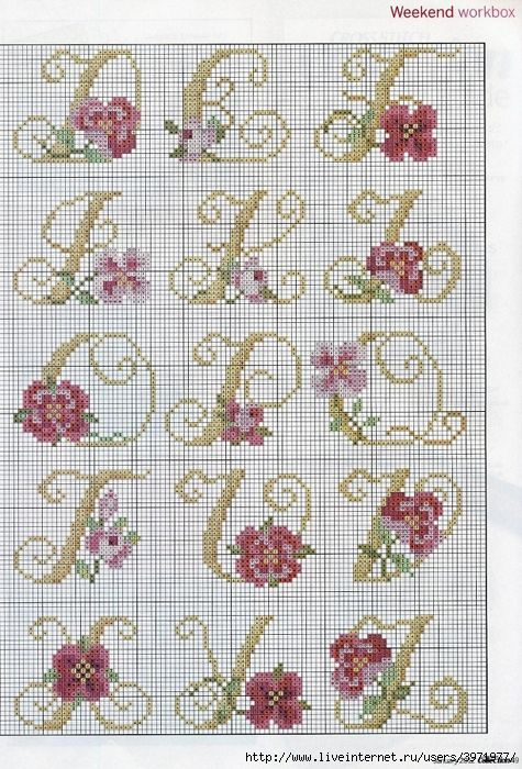THE ULTIMATE ALPHABETS CROSS STITCH COLLECTION  Sept 2014 - Ring o roses