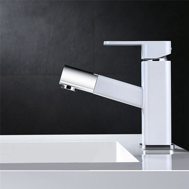 Elegant Pull Down Basin Faucet Contemporary Bathroom Sink Tap Contemporary Bathroom Sinks Bathroom Sink Taps Sink