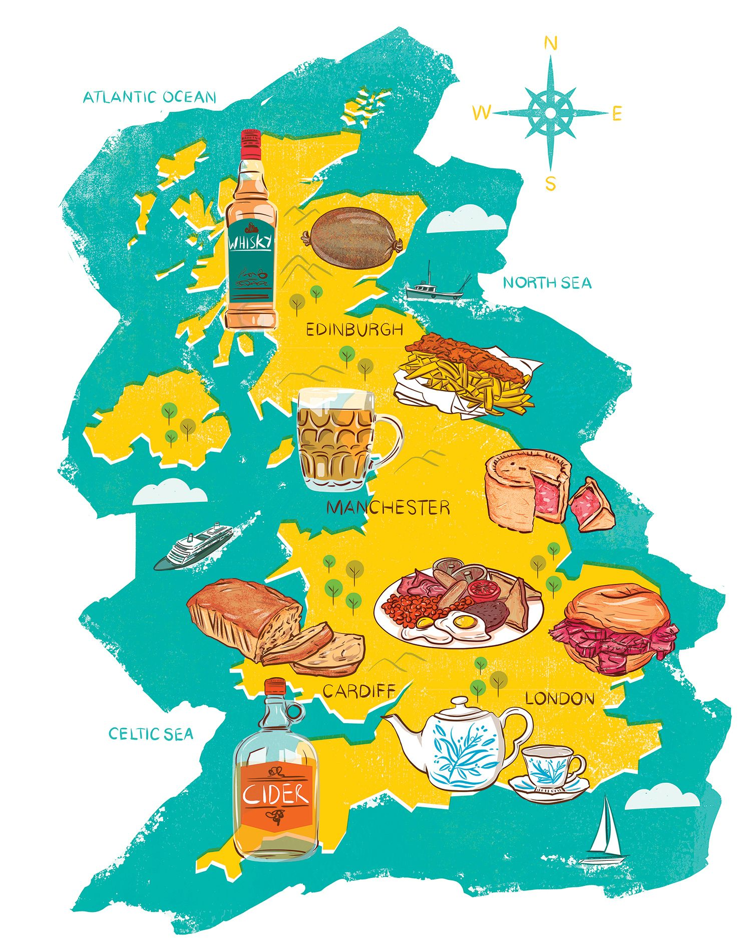 Map Of The Uk And Europe.The 10 Uk Foods You Have To Try And Why Wanderlusting Food Map