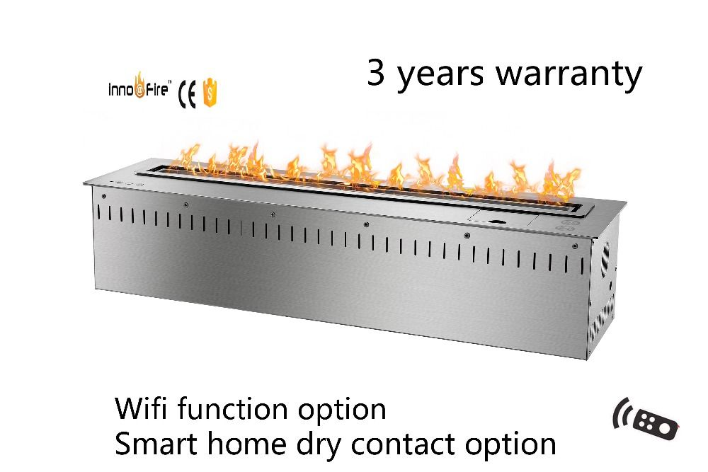 36 Inch Smart Remote Control Intelligent Silver Or Black Auto Bio Haard Remote Control Remote Coffee Table Fireplace