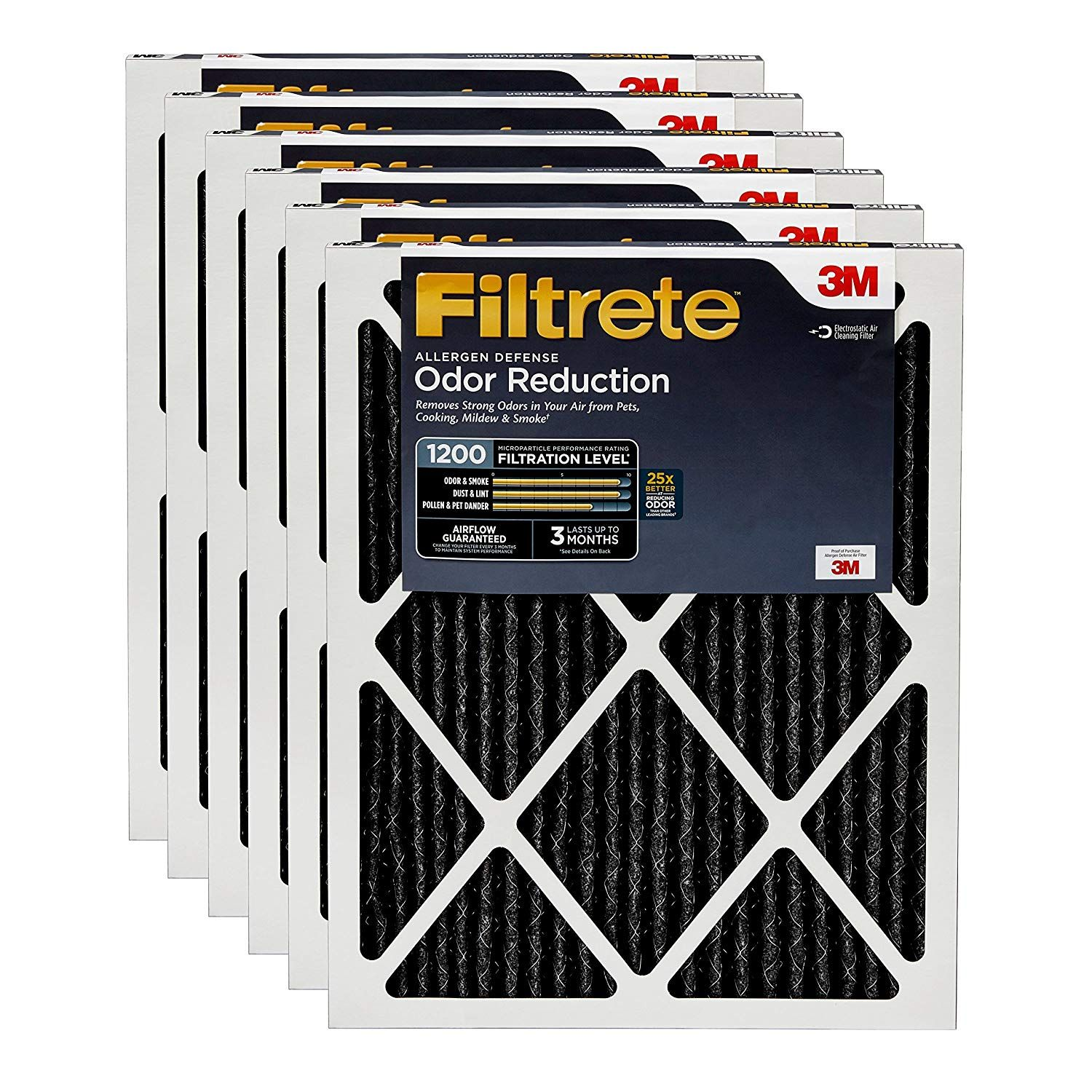 Filtrete 20x20x1 Mpr 1200 Allergen Defense Odor Reduction Ac Furnace Air Filter 6 Pack Check Out The Image By Visiting The Link This I Hvac Air
