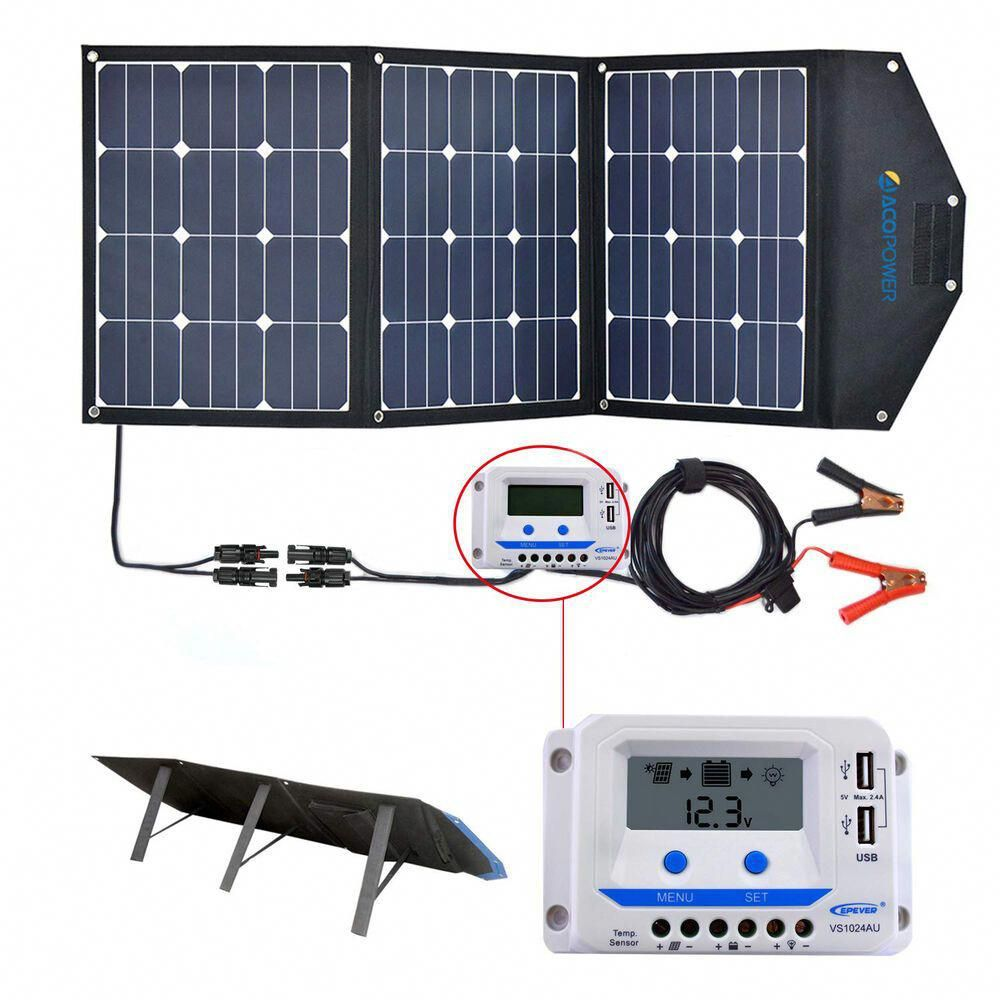 Acopower 120w Portable Solar Suitcase Camping World Solarpanels Solarenergy Solarpower Solargenerator So In 2020 Solar Panel Kits Solar Panels Flexible Solar Panels