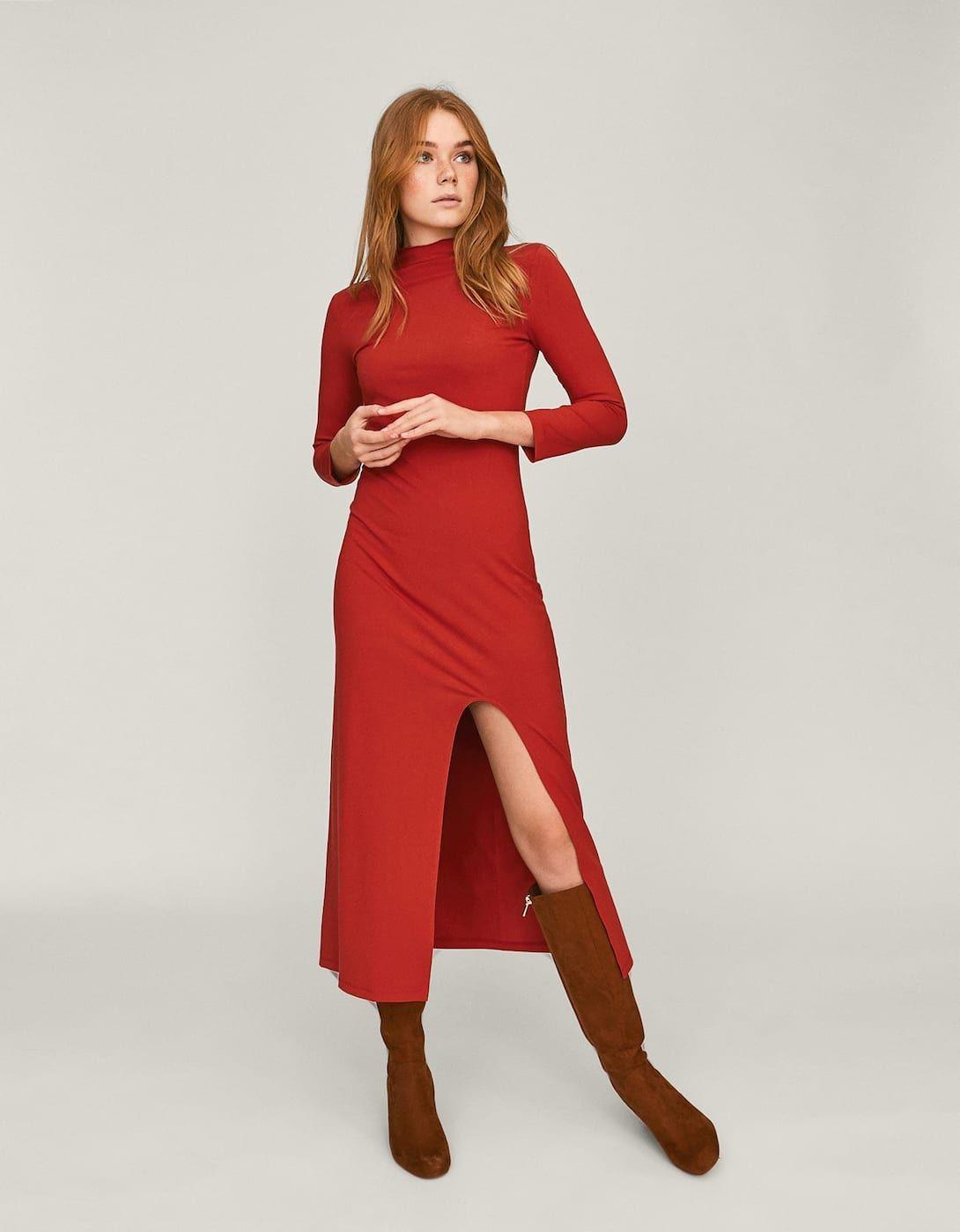 6e01d79573db Vestido largo cuello perkins Limited edition | Inditex-Mango ...