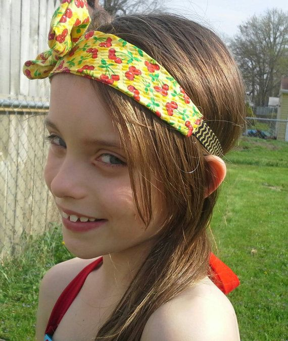 Check out this item in my Etsy shop https://www.etsy.com/listing/232686236/jersey-knot-cherry-bomb-girls-headband