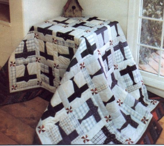 etsy airplane quilts | ... 159 Airplane Quilt Pattern and Wall ... : airplane quilts - Adamdwight.com