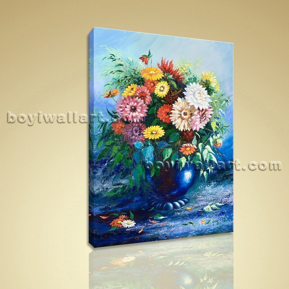 Classical still life bouquet flower painting hd print canvas