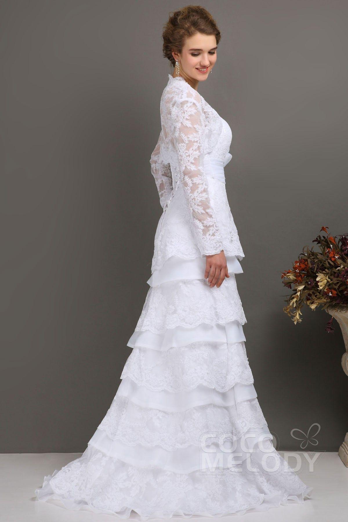 Lace dress jacket  New Style SheathColumn Sweetheart SweepBrush Train Lace Wedding