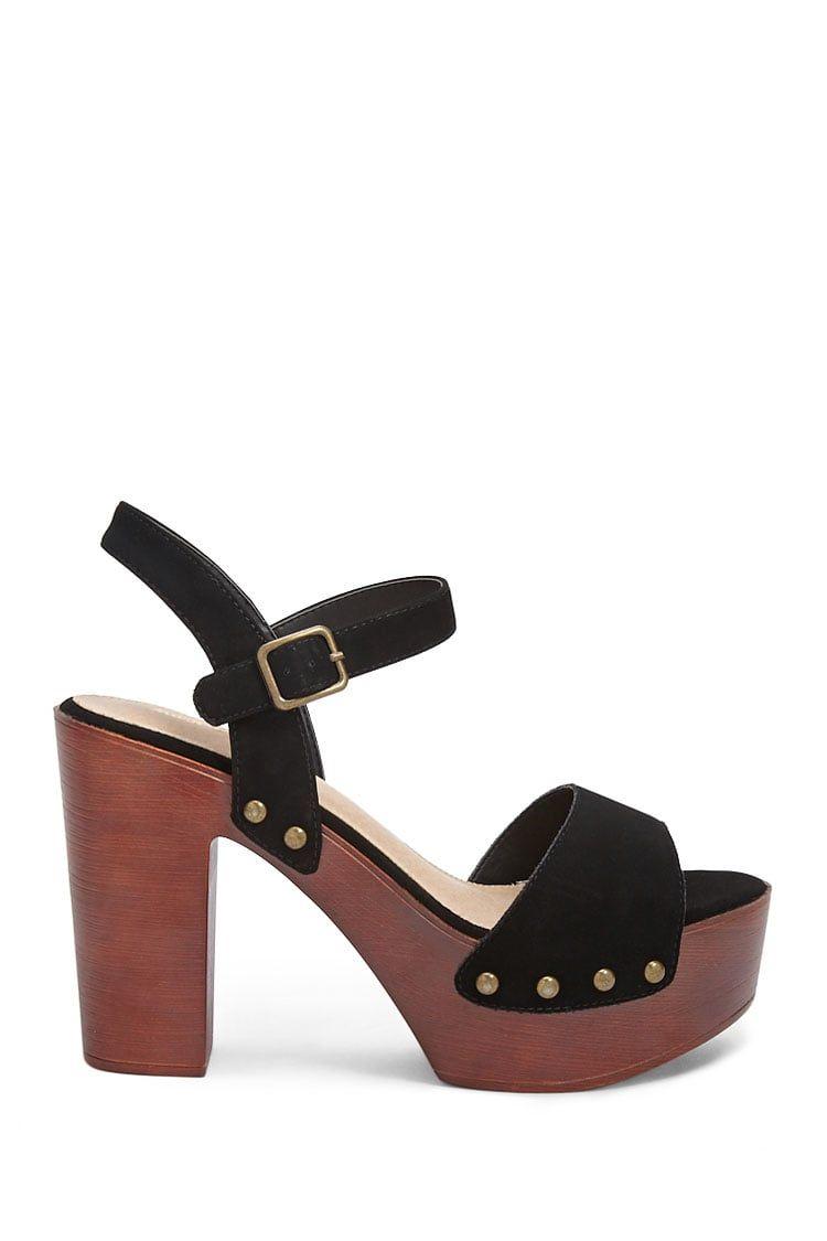 aadfb1d012f Wooden Platform Heels in 2019   Summer 2019   Shoes, Heels, Stiletto ...