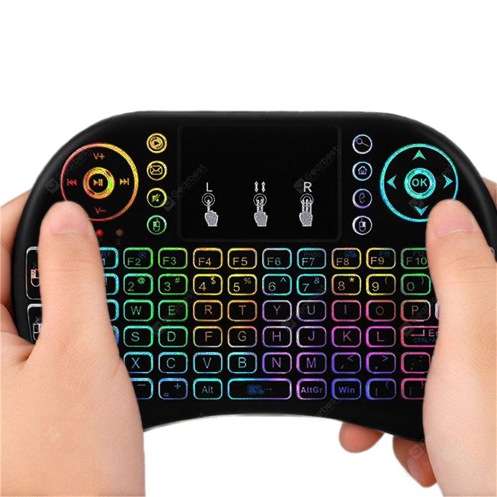 Colorful Backlit I8S2.4G Mini full Keyboard Trackpad