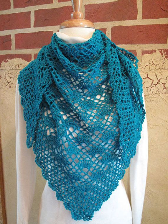 Crochet PATTERN: Onslow Lightweight Shawl on Etsy, $5.50