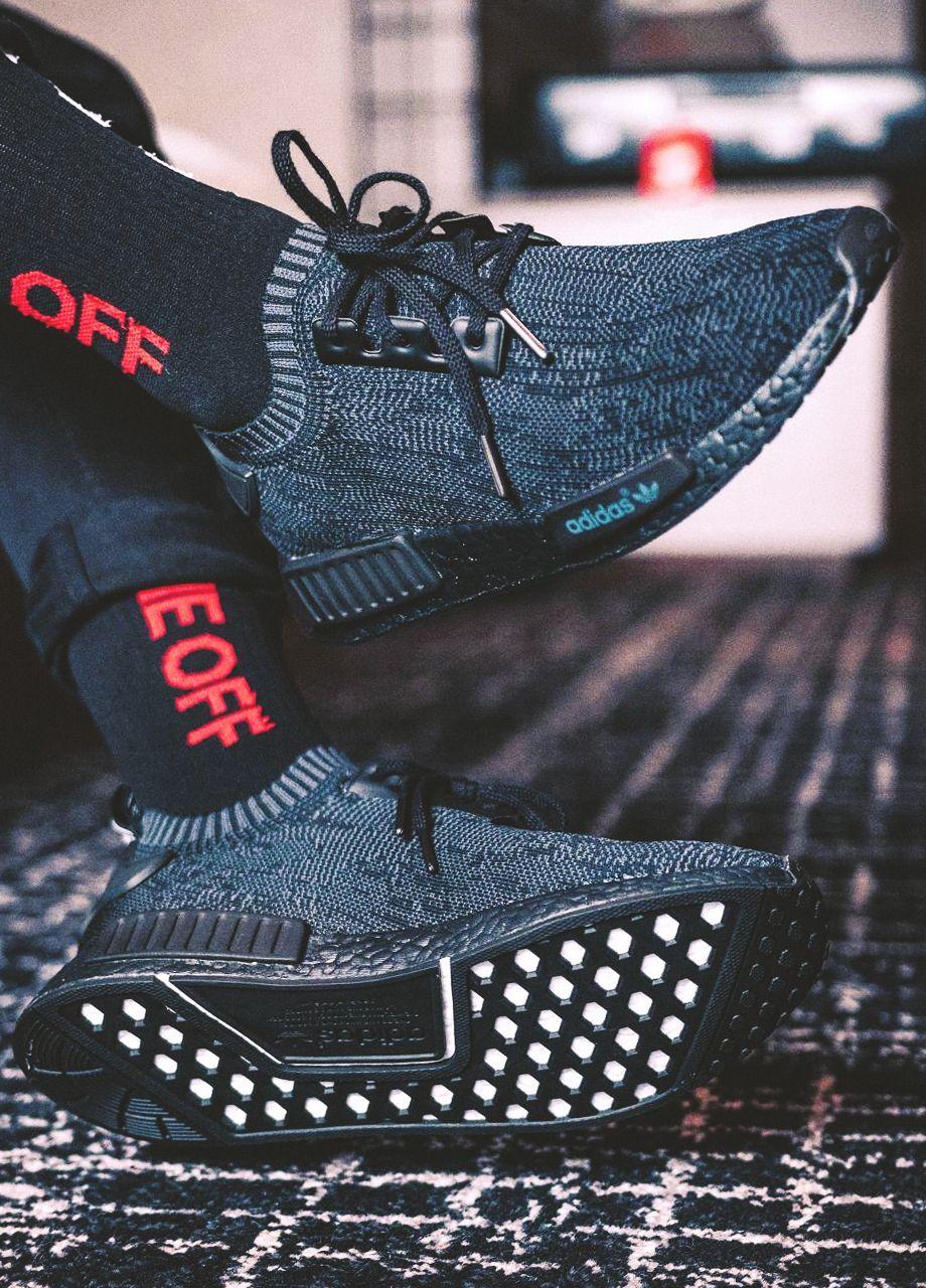 adidas nmd r1 primeknit pitch black 2016 (da scarpe da ginnastica parag0n)