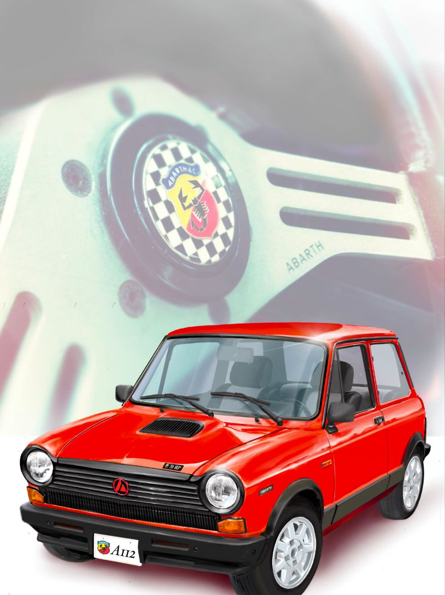 Autobianchi A112 Abarth カー イラスト 旧車