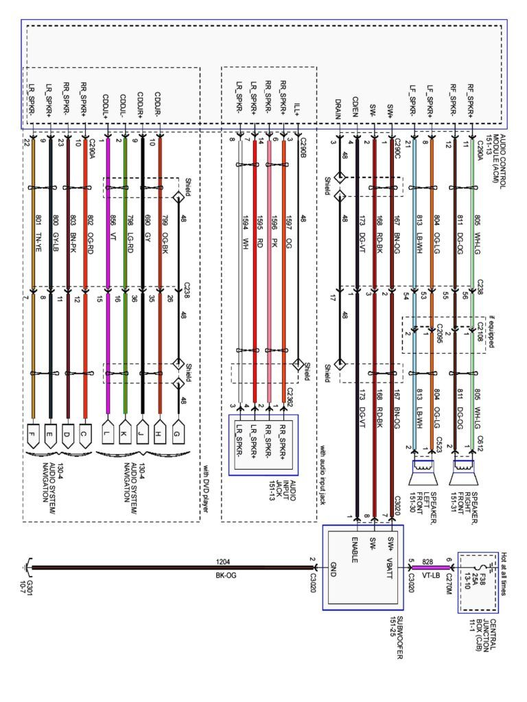 2001 Ford Ranger Stereo Wiring Diagram