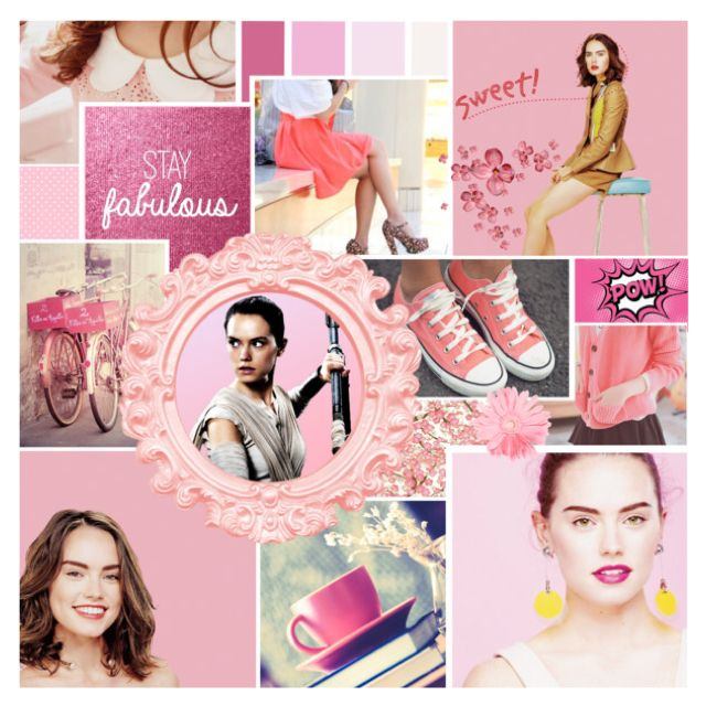 Colour love pink | The Sweet & Adorable Miss Daisy Ridley by rainbowbaconcupcake