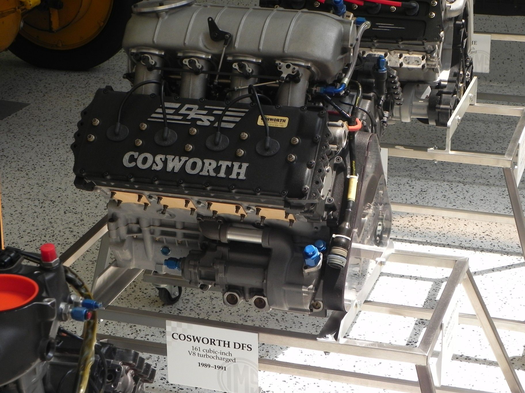 Cosworth DFS V8 turbo | Engines | Car engine, Cars, Engineering