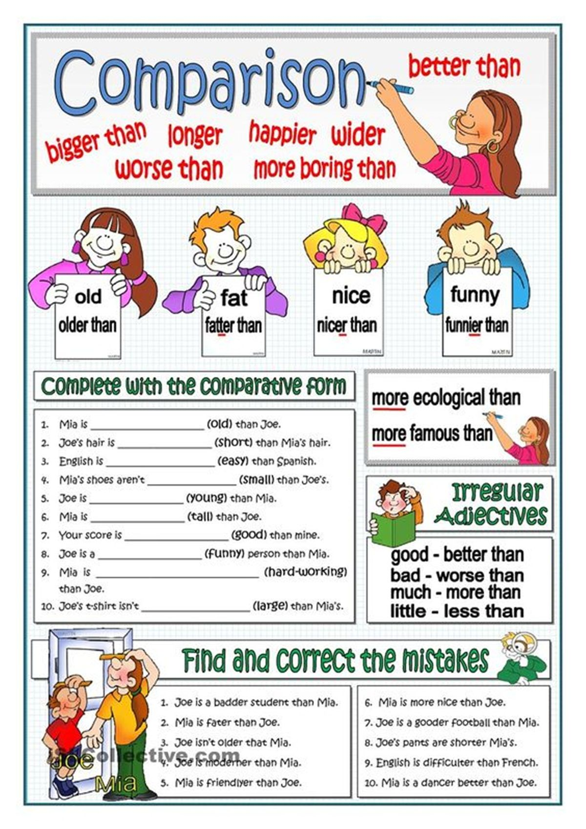 Comparison Of Adjectives In English