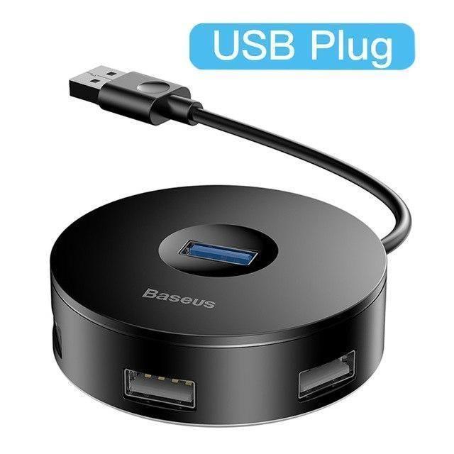 Usb Hub External 4 Ports Usb 3 0 Usb C Hub Splitter To Usb 3 0 3