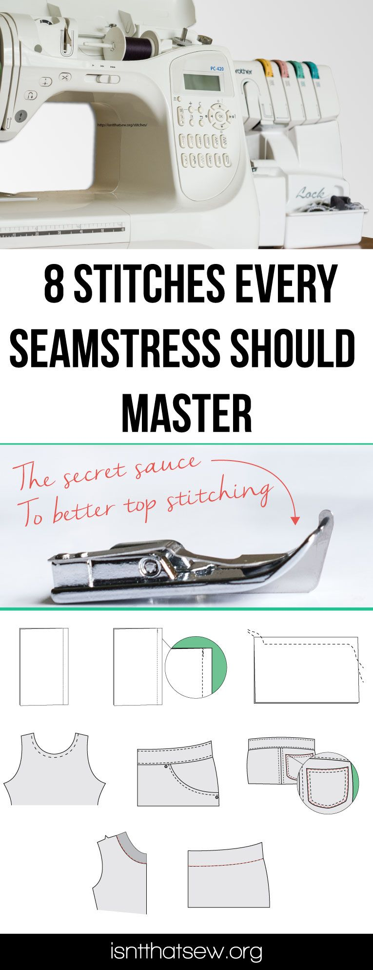 8 Basic sewing stitches every seamstress should master #sewingtechniques