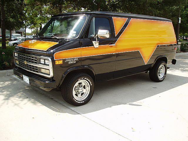 1992 Chevrolet G30 Custom Van For Sale Houston Texas Custom Vans For Sale Chevy Van Custom Vans