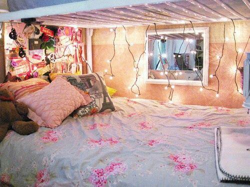 Fairy Lights Under Bunk Bed Cute Dorm Rooms Bedroom Decor Warm