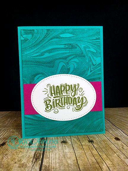 Celebrate You Marbleized Background Birthday Card Video Tutorial