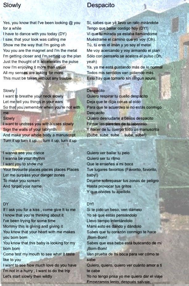 Un Beso Lyrics In English : lyrics, english, Fonsi, Daddy, Yankee's, DESPACITO, Lyrics, English, Translation, Total, Pages, (first, Despacito, Lyrics,, English,, Music