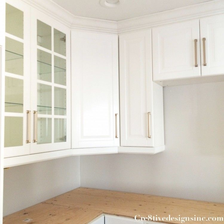 How to Install a Crown Molding to Kitchen Cabinets ...