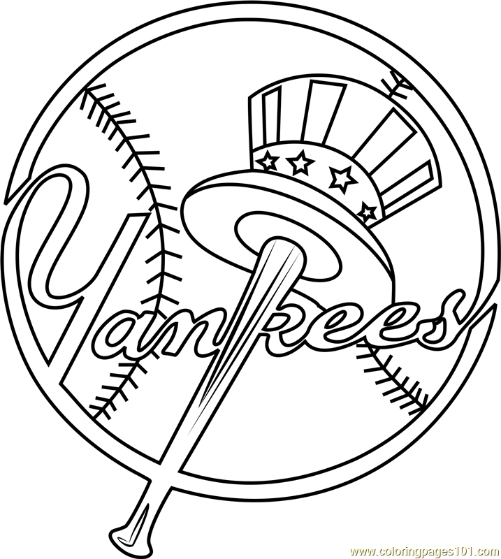 Yankees Baseball Coloring Pages Baseball Coloring Pages New York Yankees Logo New York Yankees