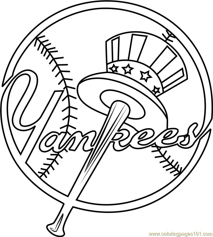 Yankees Baseball Coloring Pages New York Yankees Logo New York Yankees Baseball Coloring Pages