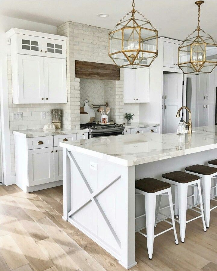 Pin By Kim Brown On Kitchens Pinterest Kitchens Detail And House - Gold kitchen light fixtures