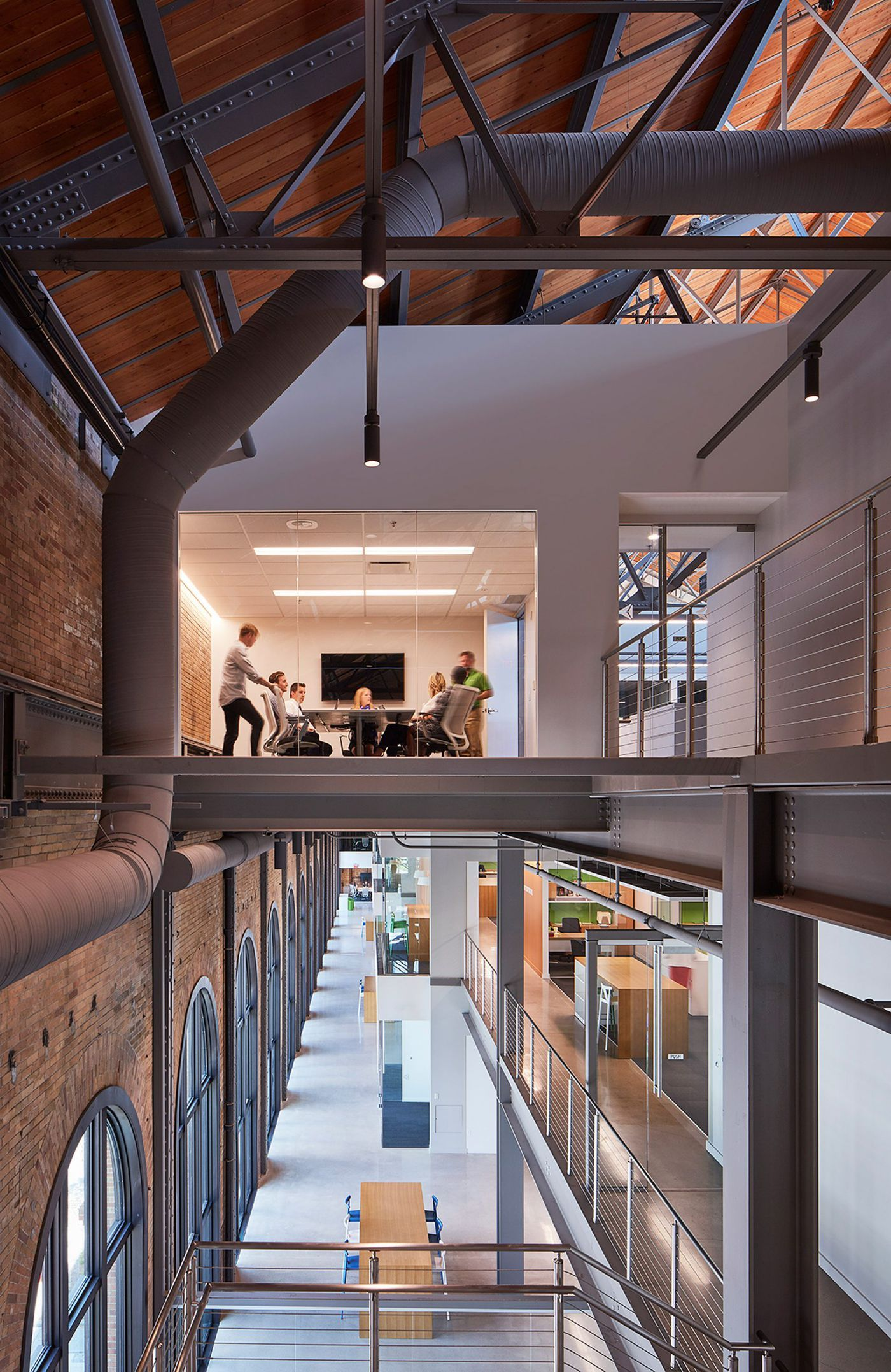 Gorgeous renovation turns old steam factory into modern office space