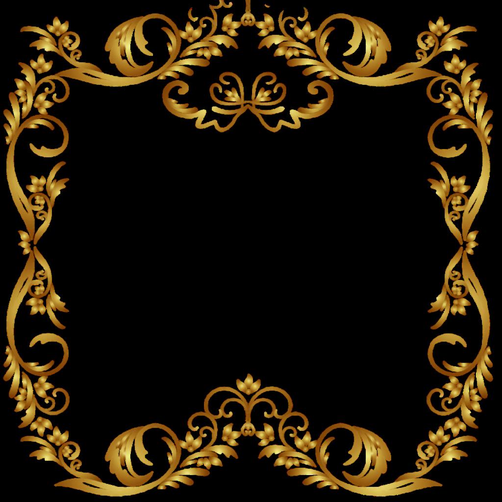 Pin De Svetlana Em Ramki Arabesco Dourado Png Molduras Para Convites De Casamento Arabesco Moldura