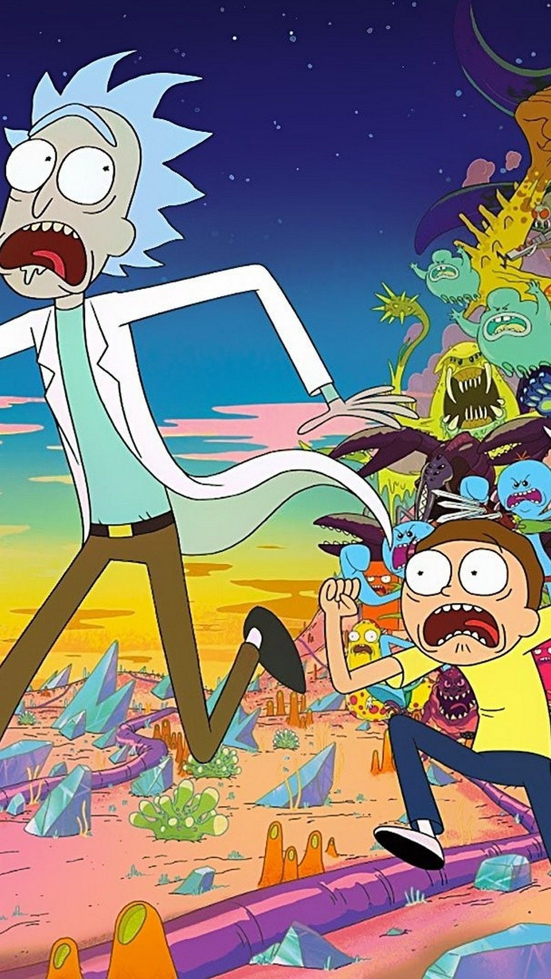 Rick and Morty iPhone Wallpaper Best Movie Poster