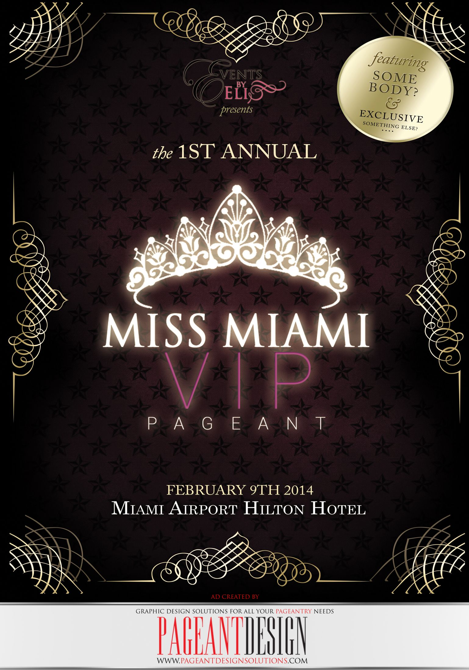 MISS MIAMI VIP PROGRAM BOOK COVER | We offer graphic design solutions for all your pageantry needs! | Pageant Ads / Pageant Program Books / Websites / Pageant Promo Flyers & Items + more! | for samples and prices check out: http://www.pageantdesignsolutions.com/