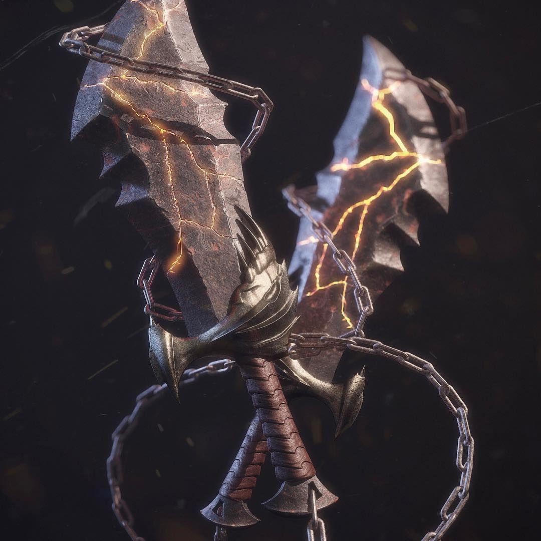 Chaos Blades From Godofwar Made Entirely In Substancedesigner By Enrico Tammekand 3d 3dart 3dart Kratos God Of War God Of War Weapon Concept Art God of war blades of chaos wallpaper