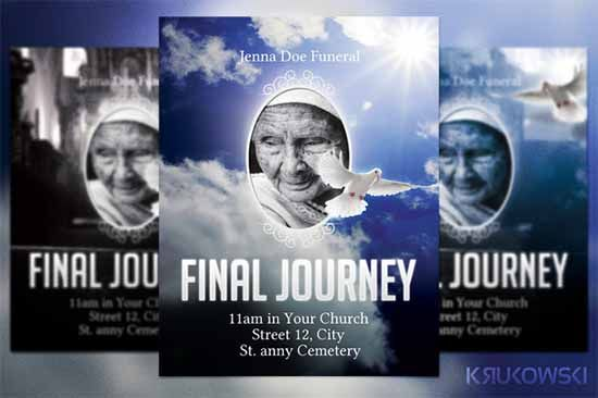 Funeral Flyer Template By Krukowski On Creative Market  Funeral Poster Templates