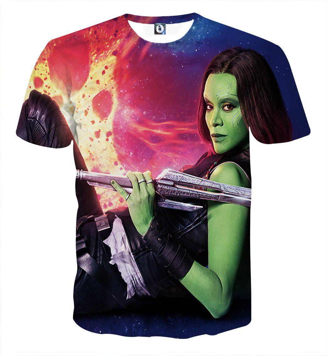 1e1384a43576 Guardians of the Galaxy Gamora Portrait Dope 3D Design T-shirt –  Superheroes Gears  GuardiansoftheGalaxy  Gamora  3DDesign  T-shirt   Superheroes