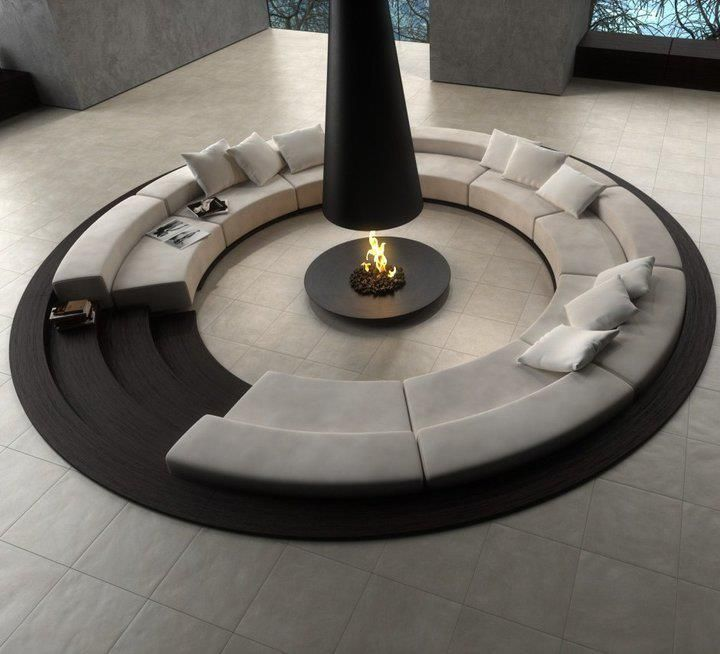 perfect seating for entertaining guests... when I'm a millionaire