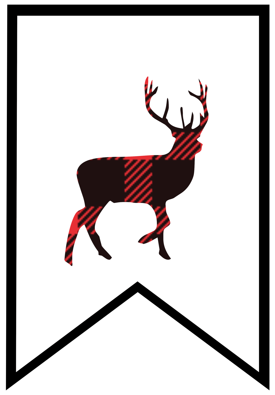 Buffalo Plaid Free Printable Banner Letters