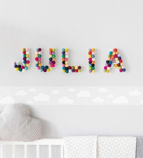 KinderzimmerDeko Baby Name childrenroomdecoration