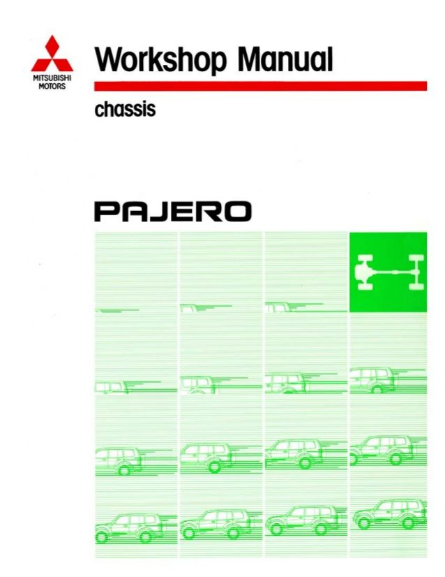 2001 Mitsubishi Montero Pajero Service Repair Manual In